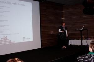 Annica Vikström presenterte Ungdomsprogrammet i cannabisbehandling.
