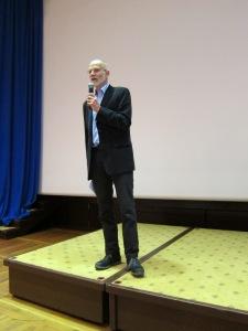 Kommuneoverlege Dagfinn Haarr åpnet konferansen