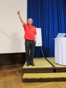 Torleif Lundquist underholdt publikum.